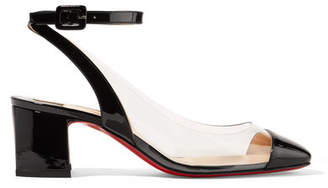 Christian Louboutin Asticocotte 55 Patent-leather And Pvc Pumps - Black