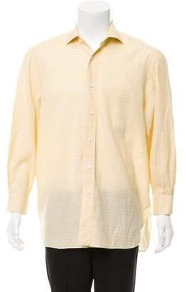 Franck Namani Plaid Dress Shirt