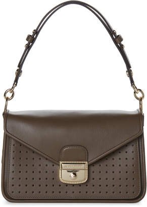 Longchamp Khaki Mademoiselle Perforated Crossbody