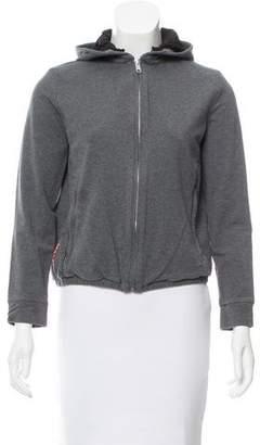 Prada Hooded Zip-Up Sweater