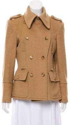 Michael Kors Camel Peak-Lapel Jacket