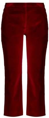 Altuzarra Nettie cropped kick-flare velvet trousers