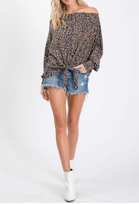 Ces Femme Leopard Tie Front