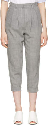 Maison Margiela Grey Wool Tailored Trousers