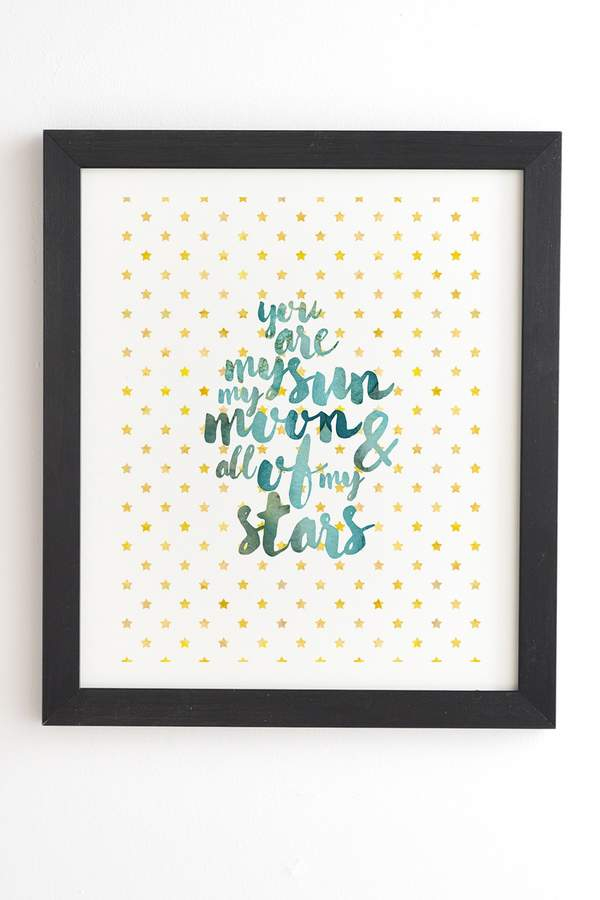 Hello Sayang You Are My Sun My Moon & All Of My Stars Framed Wall Art
