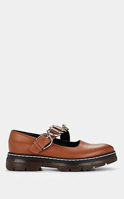 Cédric Charlier Women's Leather Mary Jane Loafers - Med. brown
