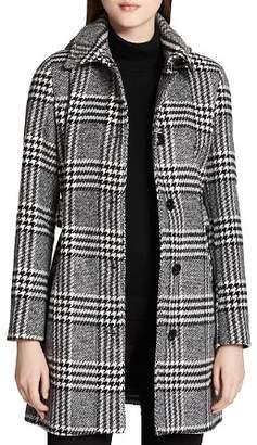 Calvin Klein Belted Plaid Coat