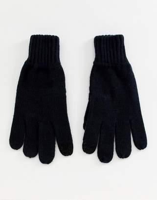 Burton Menswear touchscreen gloves in navy
