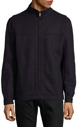 London Fog Double-Face Wool-Blend Zip Jacket