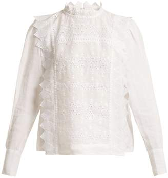 Isabel Marant Nutson embroidered blouse