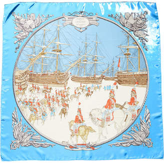 Hermes Marine Et Cavalerie By Philippe Ledoux Silk Scarf