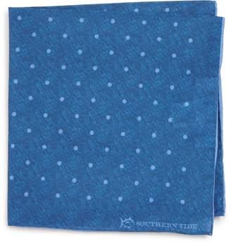 Southern Tide Bethany Dot Cotton & Silk Pocket Square