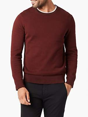 Dockers Plaited Jersey Crew Neck Jumper