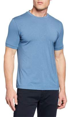 Emporio Armani Men's Basic Crewneck T-Shirt, Medium Blue