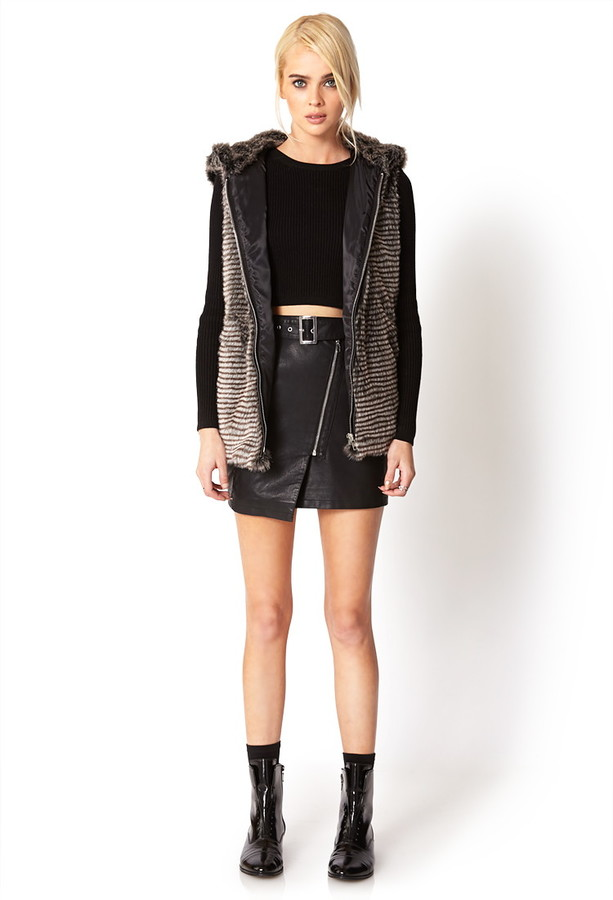 Forever 21 City-Chic Faux Fur Vest