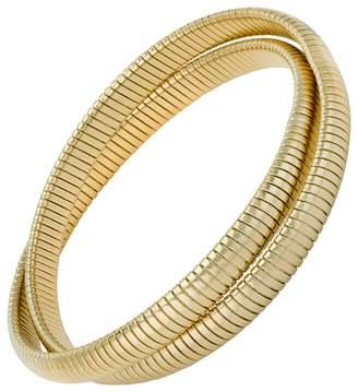 Janis Savitt High Polished Gold Double Cobra Bracelet