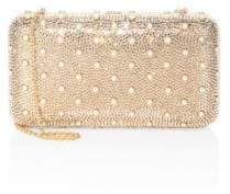 Judith Leiber Couture Smooth Rectangle Studded Crystal Clutch