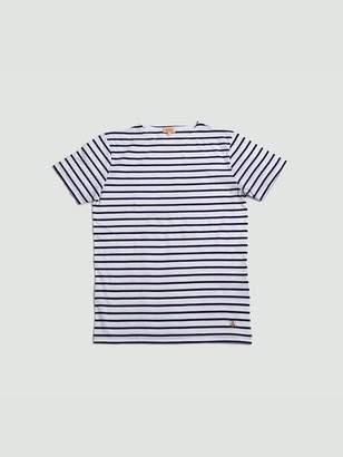 Armor Lux Sailor Shirt S S Blanc Violet - M