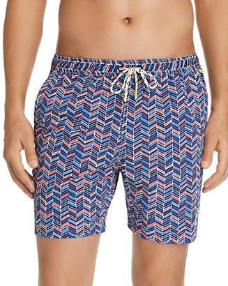 Psycho Bunny Herringbone Stretch Swim Trunks