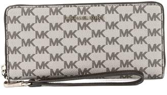 Michael Kors Black Leather Jet Set Travel Logo Continental Wristlet (New with Tags)