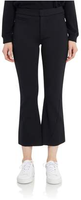 Getting Back To Square One Neoprene Cropped Flare Pant In Black