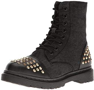 Gia Mia Women's Rock Star Studded Boot Combat