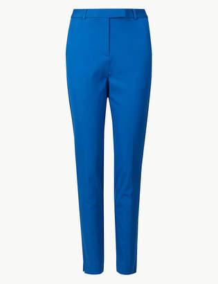 Marks and Spencer Cotton Blend Ankle Grazer Trousers