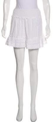 Anine Bing Lace Trim Mini Skirt