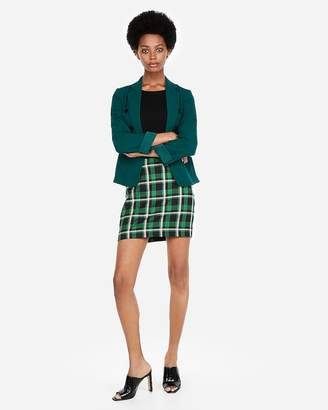 Express Cropped Double Breasted Blazer
