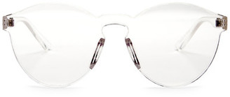 GLANCE EYEWEAR Women's Frameless Clear Round Plastic Sunglasses $14.97 thestylecure.com