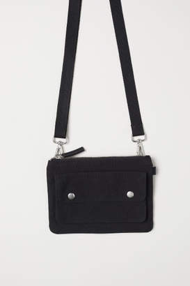 H&M Cotton Canvas Shoulder Bag - Black
