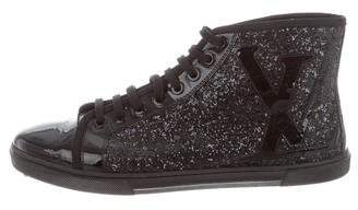 Louis Vuitton Glitter High-Top Sneakers