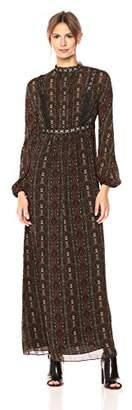 Max Studio Women's Printed Crepe Maxi Dress
