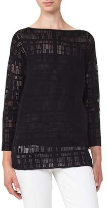Akris Square Embroidered Silk Blend Tunic