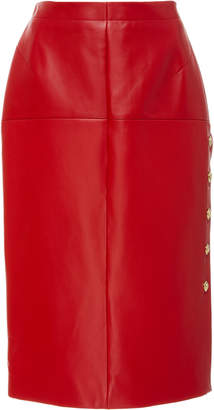Escada Laria Leather Pencil Skirt