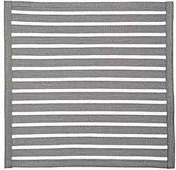 Deborah Rhodes Striped Braided Placemat - Black, Grey