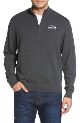 Cutter & Buck Seattle Seahawks - Lakemont Regular Fit Quarter Zip Sweater