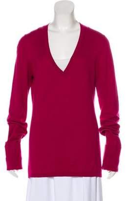 Burberry V-Neck Knit Sweater