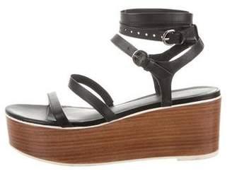 Tibi Leather Platform Sandals