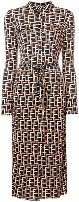 Elisabetta Franchi geometric print shirt dress