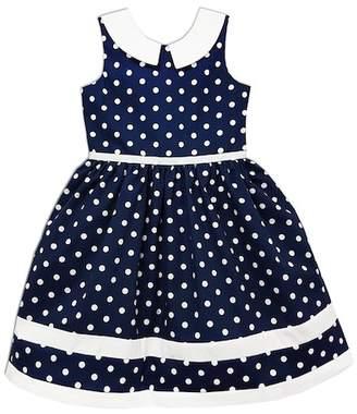 Joe-Ella Navy Polka Dot Nautical Dress (Baby, Toddler, Little Girls, & Big Girls)