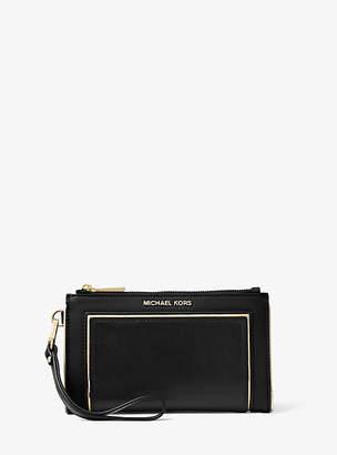 Michael Kors Adele Framed Leather Smartphone Wallet