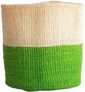 COUANI Safi Woven Basket, Lime Green Large