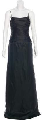 Armani Collezioni Silk Ruched Gown