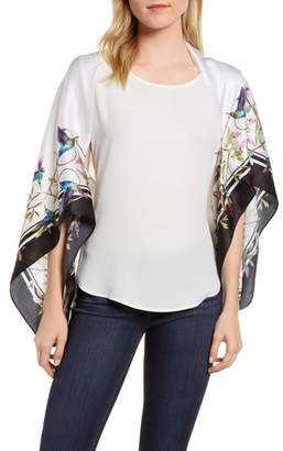 Ted Baker Chatsworth Bloom Silk Cape Scarf