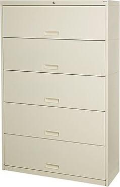 """Datum Storage Stak-N-Lok 100 Series 5 Door 42"""" W Letter Size and Locking High Cabinet Datum Storage"""