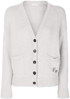 Saint Laurent cardigan with pins