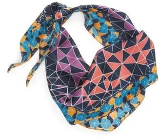Echo Tiled Together Diamond Cut Silk Scarf