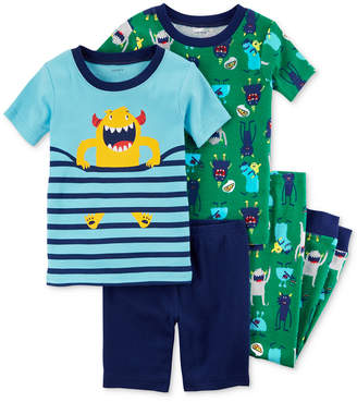 Carter's 4-Pc. Monster-Print Cotton Pajama Set, Baby Boys