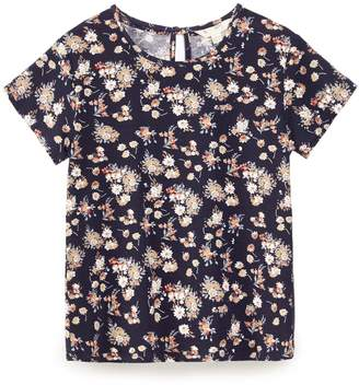Yumi Girls Flower Cluster Jersey Top